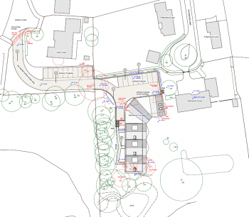 Site plan for the development