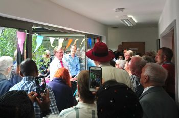 Retiring Oxford East MP Andrew Smith formally opening the extended Manor Surgery 11 May 2017