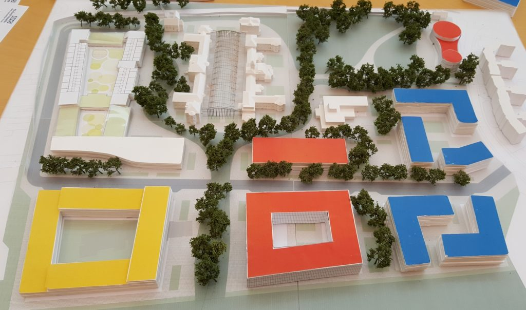 Model of the Warneford Masterplan site layout